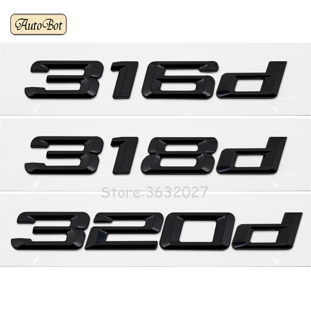 316d 318d 320d Letter Number Emblem Badge Car Sticker Accessories For BMW 3 Series E21 E30 E36 E46 E90 E91 E92 E93 F22 F45 F23
