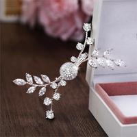 Paved Full Zircon Hair Clip All Cubic Zircon Hairpin CZ Bride Hair Jewelry Bridal Headpiece Wedding Hair Accessories WIGO1250