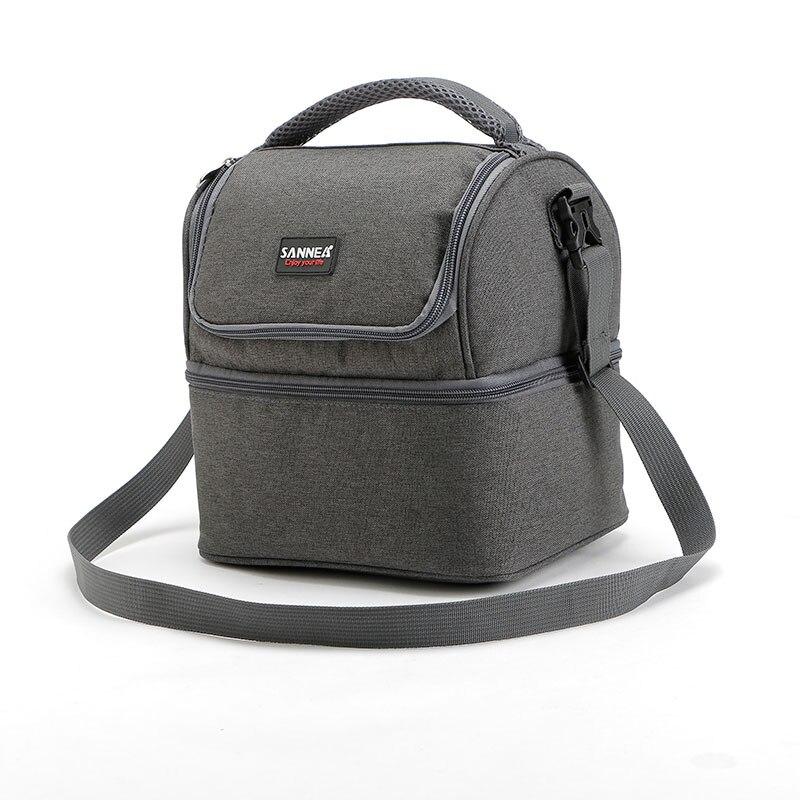 7L <font><b>Lunch</b></font> bag Portable Insulated Picnic Box 600D Oxford Solid Thermal <font><b>Lunch</b></font> box Food Picnic Bag Cooler Tote Handbags