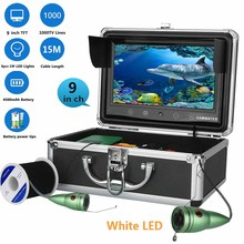 GAMWATER  9″ Underwater Fishing Video Camera Fish Finder In English 1000TVL 9″Color Fishing Monitor White LED Lights Fishfinder