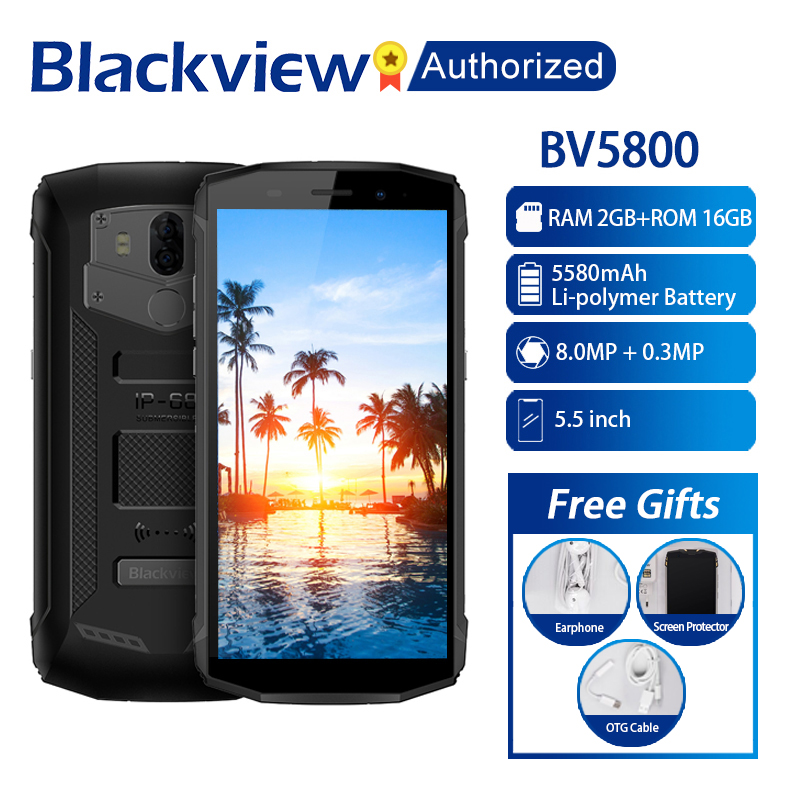 Blackview BV5800 Smartphone 5 5 inch Screen 2GB RAM 16GB ROM Android 8 1 MTK6739 Quad