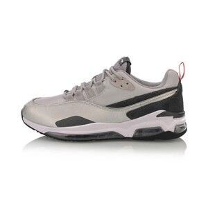 Image 4 - Мужские прогулочные туфли Li Ning BUBBLE FACE II, носимые Нескользящие удобные спортивные туфли с подкладкой, кроссовки для фитнеса AGCP005 SJFM19