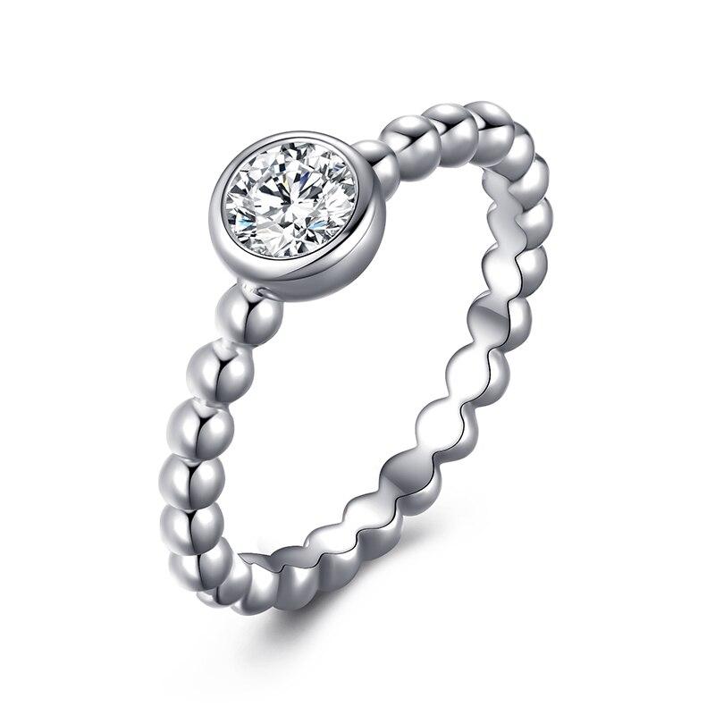 Модное Сверкающее циркониевое серебряное кольцо для женщин, цветочное сердце, корона, кольца на палец, фирменное кольцо, ювелирное изделие, Прямая поставка - Цвет основного камня: 21