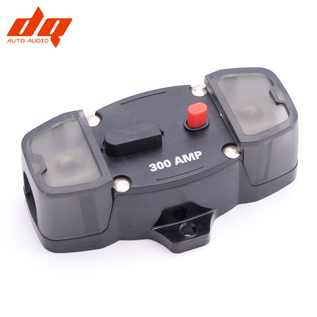 80A 100A 160A 200A 300A Car Audio Amplifier Circuit Breaker Fuse Holder AGU Style Stereo Refit 4GA Cable for 12V Protection