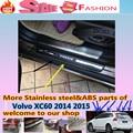 De alta Qualidade Para Volvo XC60 2014 2015 pedal de Aço Inoxidável do peitoril Da Porta Da placa do scuff Tampa quadro Externo limiar * Original * 4 pcs