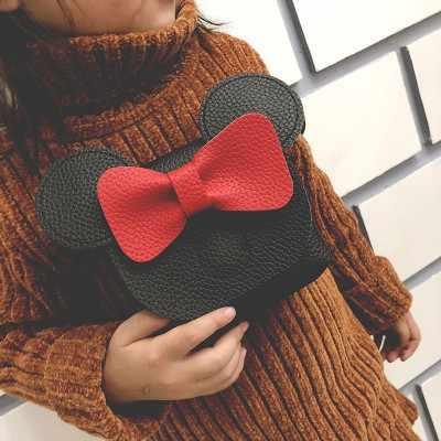 Новое модное платье принцессы милые сумка портмоне Микки лук детская маленькая сумка A208