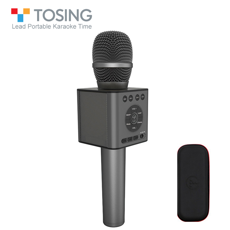 Original Tosing 12 wireless Bluetoorh Karaoke Microphone With FM Car KTV Chorus Mode Pairing USB Noise