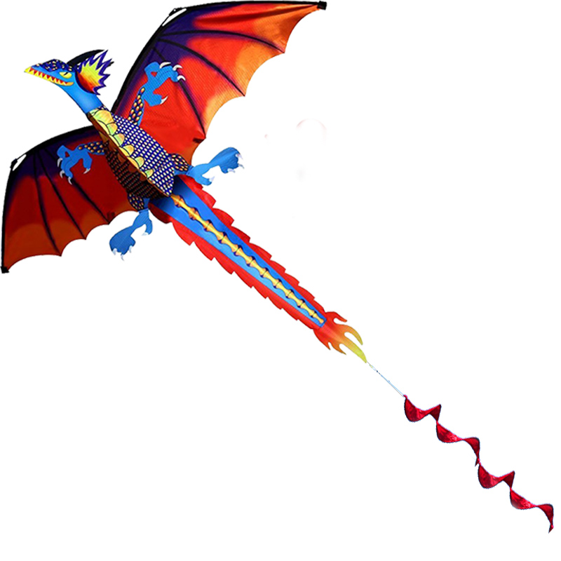 Professional Hot 140cm 55inches Stereo Pterosaur Kite Dragon Kites With Handle Line Good Flying Gift in Kites Accessories from Toys Hobbies