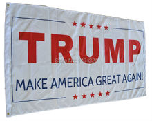 American flag  90*150 cm white TRUMP for president make America great again for Donald Trump US Banner