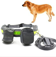 30 Pcs Lot Hands Free Waist Dog Lead Belt Jogging Running Walking Food Collars Leads Pets