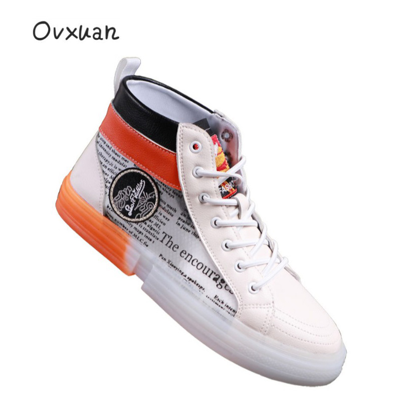 Sport Casual Design Perspective Air Mesh Hip Hop High Top Sneakers Runway Men Trainers Shoes Fashion