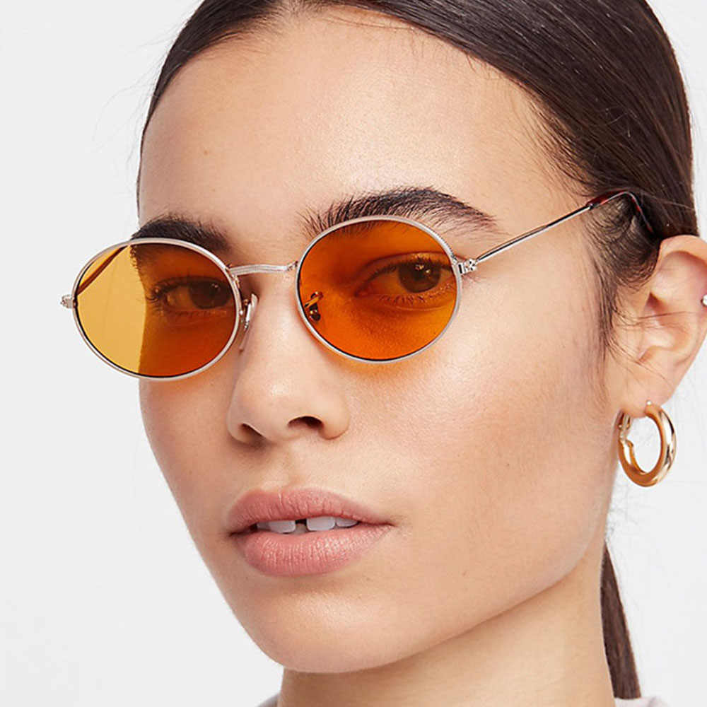 eeee2dcf690 Detail Feedback Questions about Brand Small Oval Glasses Women s Round  Sunglasses Men Hip Hop Rap Vintage 2018 Fashion Ladies Sunglasses Cheap  Retro Sun ...