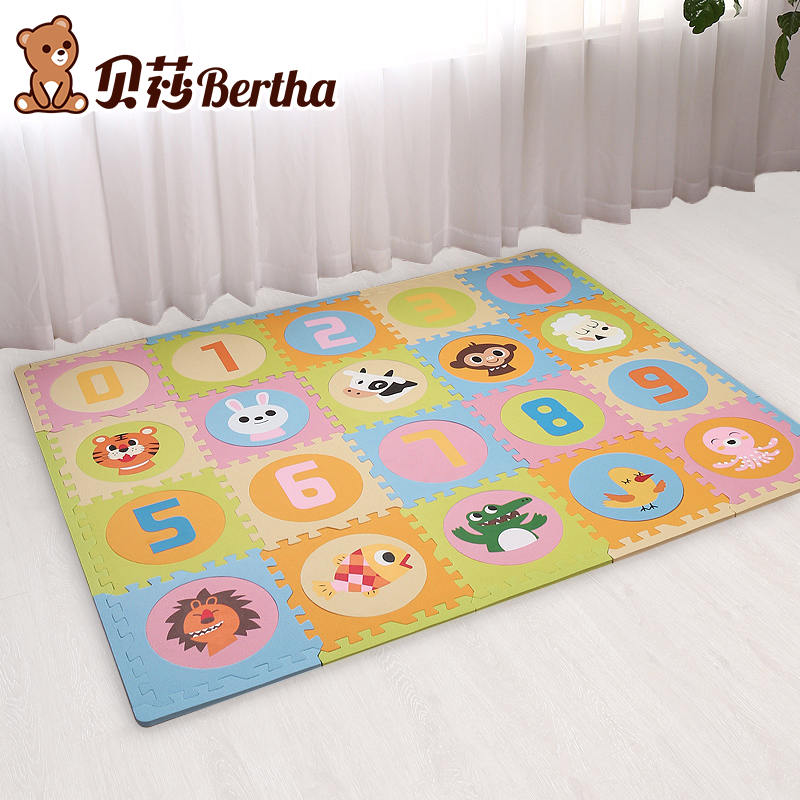 20Pc Soft Foam EVA Floor Rug Mat Interlocking Tiles Kids Babies Puzzle Play Mat