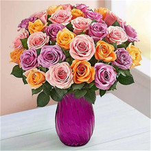 5D DIY diamond painting flower vase cross stitch embroidery mosaic home decoration