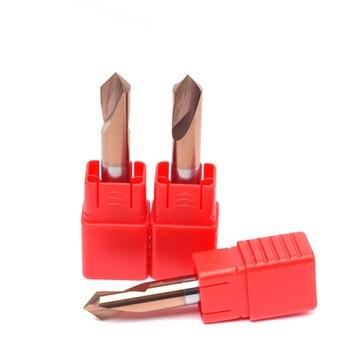цена на 1PC HRC55 3MM 4MM 5MM 6MM 8MM 10MM 90 Degree Spot Drill Bit for Machining Hole Drill Chamfering Tools Tungsten Carbide Steel