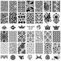 2PCS beauty flower lace pattern nail art stamping plates manicure nail decoration supplies tools nail stamp plate BC0708