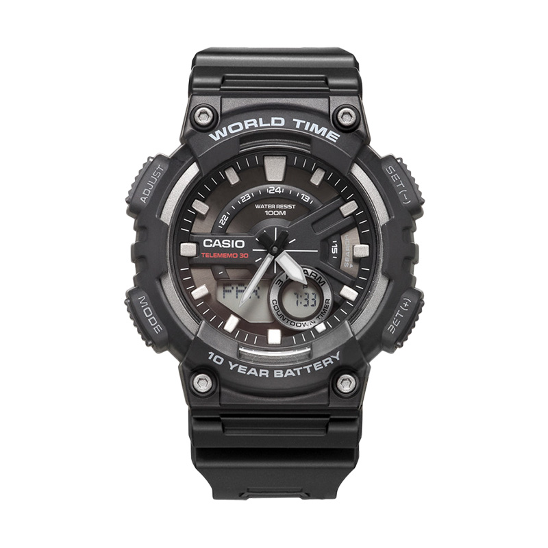 Casio watch sports series smart dual display multi-function electronic men's watch AEQ-110W-1A