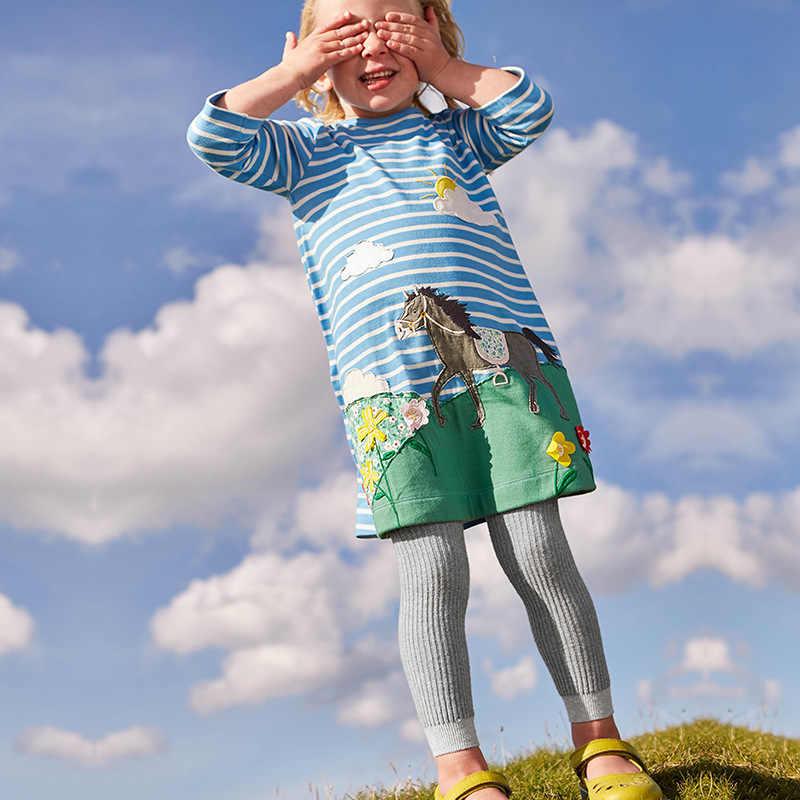Новые платья для детей; Одежда для девочек; хлопковое осеннее платье 2018 года для девочек; Туника; трикотажное платье; детская одежда принцессы