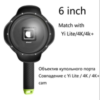 SHOOT 6 Inch Diving Dome Port For Yi 4K With Waterproof Case Underwater Dome Yi I