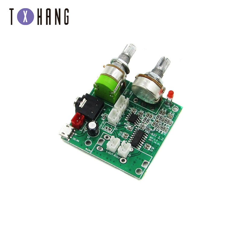 DC <font><b>5V</b></font> 20W <font><b>2.1</b></font> Dual Channel 3D Surround Digital Stereo Class D <font><b>Amplifier</b></font> AMP Board Module For Arduino With Wires image