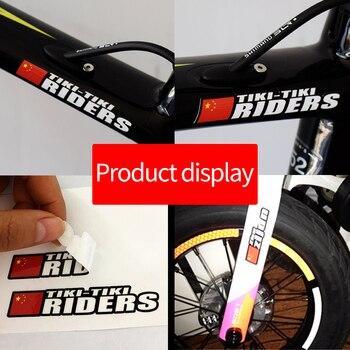 Strada MTB Della Bicicletta bandiera adesivi nome MTB telaio logo nome personale decalcomanie personalizzate rider ID sticker bicicletta STYLE.20
