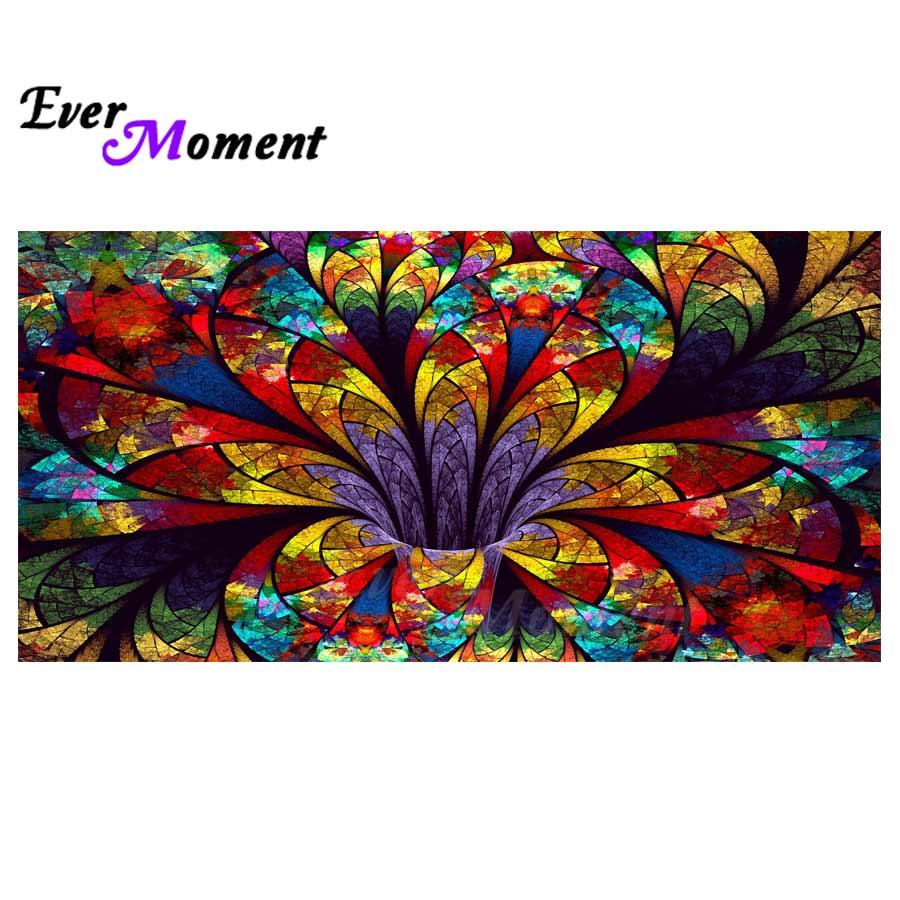 Ever Moment Diamond Painting Handmade Full Square Flower Mandala Picture Of Rhinestone Diamond Embroidery Cross Stitch 3F403