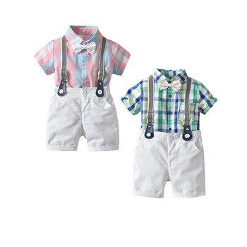 Ropa de bebé niño Caballero peleles + Culote modis ropa de recién nacido conjunto de traje de bebé Bow Conjuntos bebe Macacao verano