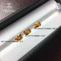 Tbj, zafiro amarillo natural calentado 1ct up buena calidad pequeña inclusión de piedras preciosas para la joyería de oro diy