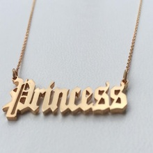 Personalized Name Necklaces for Women Customized Nameplate Custom Necklace Old English style Jewelry