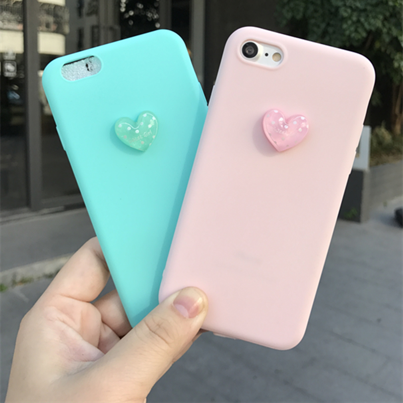 Galleria fotografica 3D lovely Super cute pink soft phone case for iphone 5 5s 6 6s 7 8 plus X cover for Samsung galaxy S6 S7 edge S8 plus S9 note