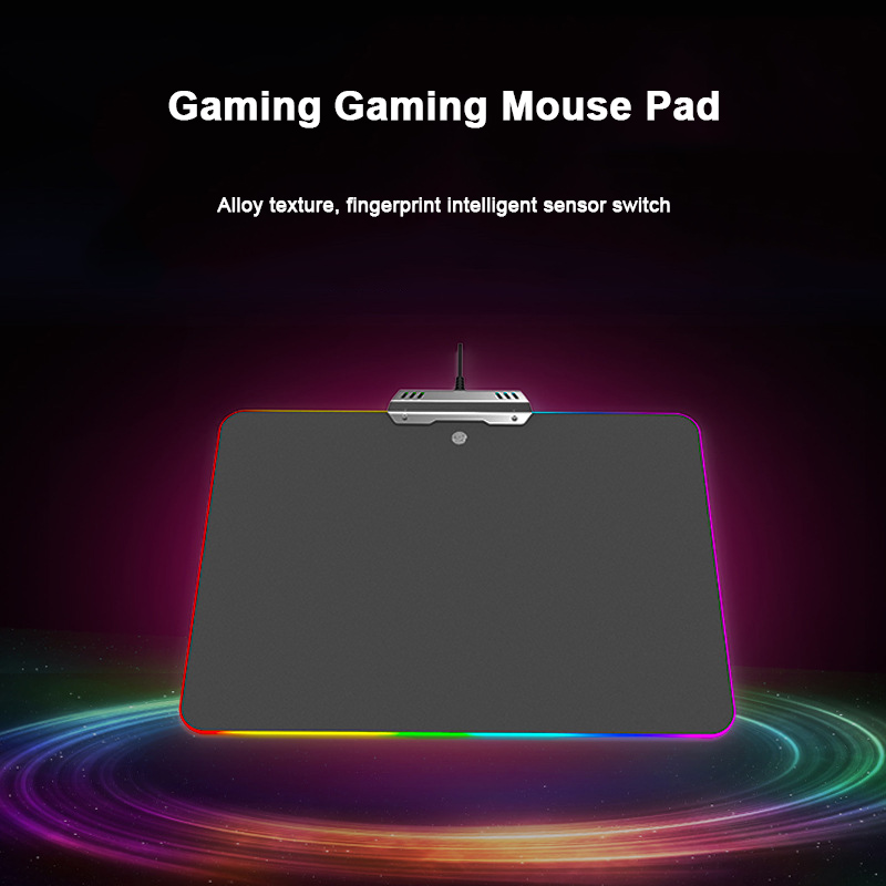 Lighting Mouse Pad LED Gaming RGB Ten Modes Comfortable Computer Mice Mat For Gamer 8 SL@88