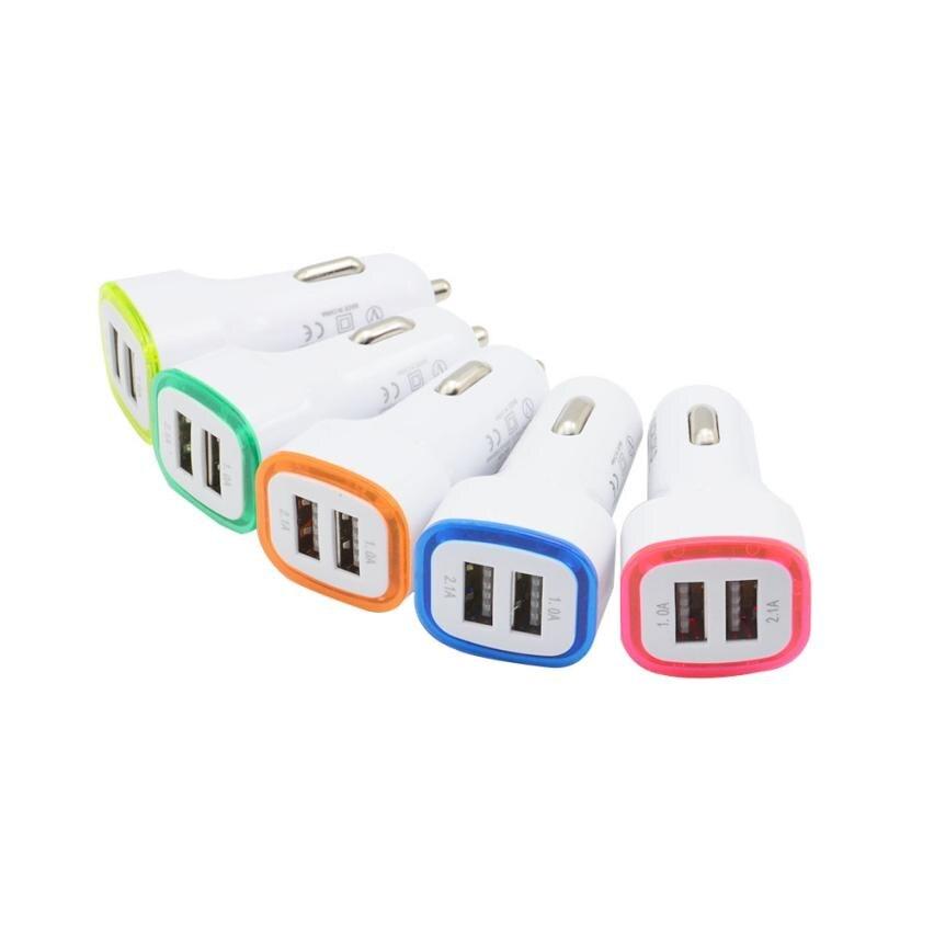 Авто-укладки 3.1A светодиодный USB двойной 2 Порты и разъёмы Разъем Адаптера автомобиля Зарядное устройство для iPhone/samsung/htc 2018 Горячие Aux авто-ук...