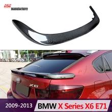 50i xDrive35i 30d 35d 40d 50d fibra de carbono spoiler traseiro asa carro para bmw 2008-2013×6 e71 pré-lci exterior parte do corpo styling