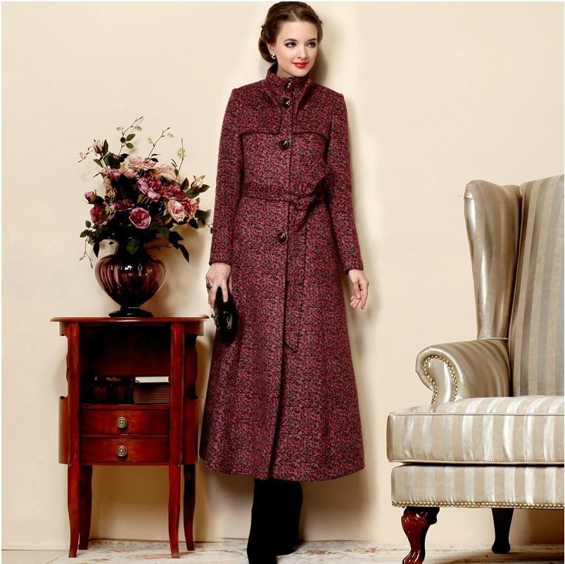 2017 Fashion Autumn Winter Women Long Coats Plus Size Warm Wool ...