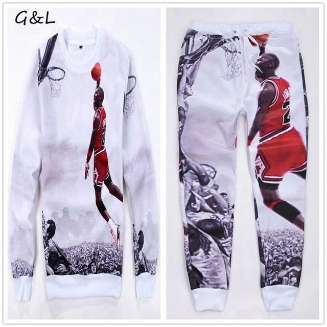 f9423aac 2018 M-3XL 4XL Plus size New Full Sleeve men print hip hop jordan 23# Hoodies  sweatshirts/emoji joggers pants/tracksuit