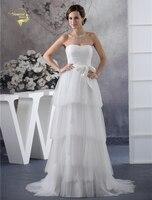 Jeanne Tình Yêu Trắng Louisvuigon Vestido De Noiva Robe De Mariage Bridal Gowns A Line Tulle Wedding Dresses 2017 YN 9280