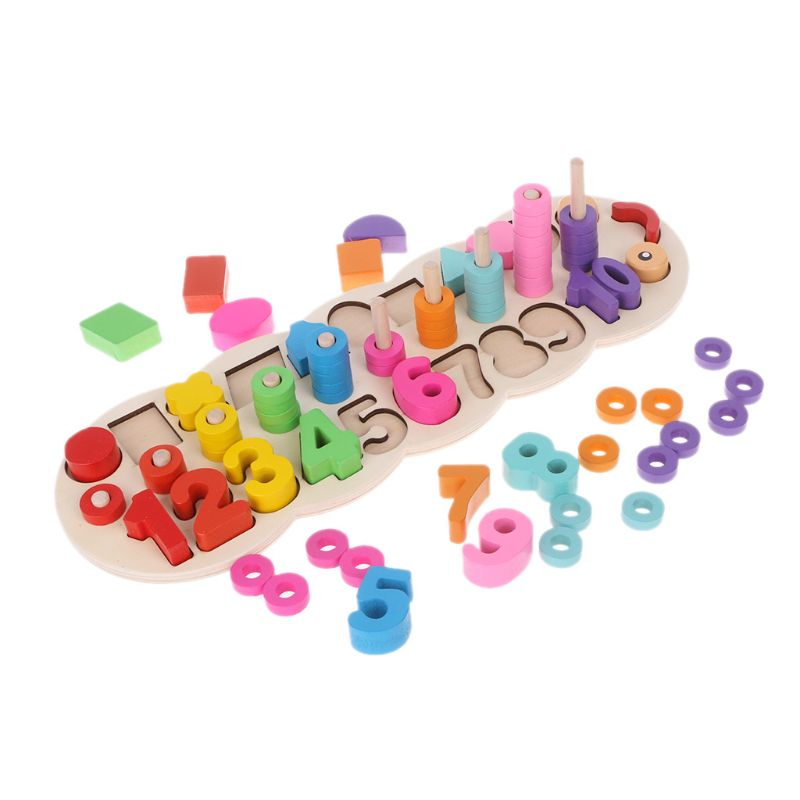 Fast Deliver Baby Toys Wooden Montessori Count Numbers Matching Digital Shape Match Early Education Teaching Math Toys Let Our Commodities Go To The World Toys & Hobbies