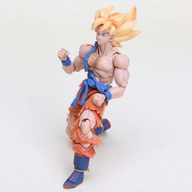 Dragon ball Z S. h. tamashii Nations Figuart Goku Super Saiyan Goku Super Guerreiro Despertar Figura de Ação Brinquedos