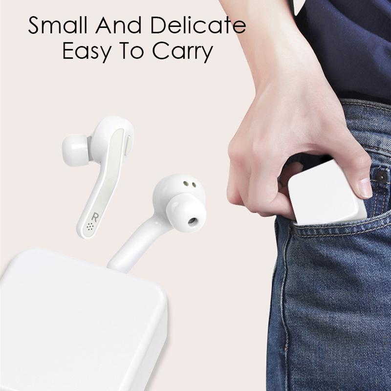 HobbyLane True Wireless Earphones <font><b>T88</b></font> <font><b>TWS</b></font> Bluetooth 5.0 Stereo Earbuds HIFI Earpieces with Mic Charging Box d20 image