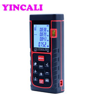 2 PCS/LOT High Accuray Handheld Laser Rangefinder SW E60 laser distance meter 60M storage 100 units also measure Area Volume