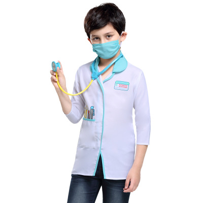 New style Halloween party Occupation Uniform role play Doctor unisex child kids cosplay costume for carnival Purim day