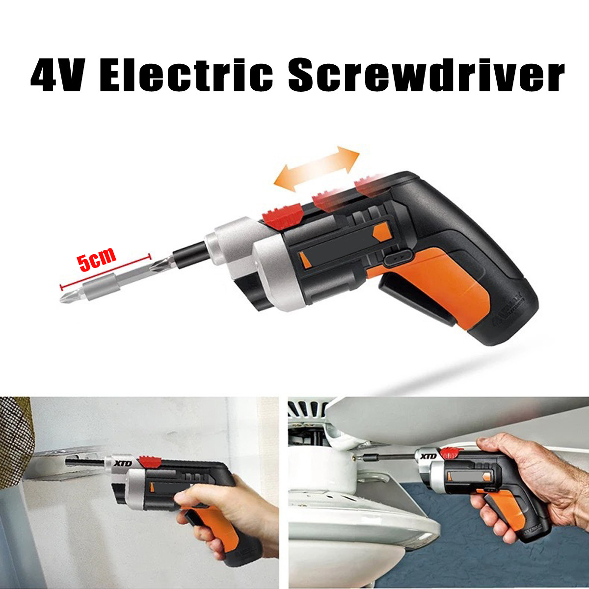4V 1500mAh Electric Screwdriver Lithium Battery Electric Drill WX252 Rechargeable 254 Electric Tools Household Power Tool