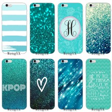 Teal Blue Glitter print heart strip dot Soft phone case For HTC One A9 M10 M7 M8 M9 E9 plus Desire 530 626 628 630 816 820 U11(China)