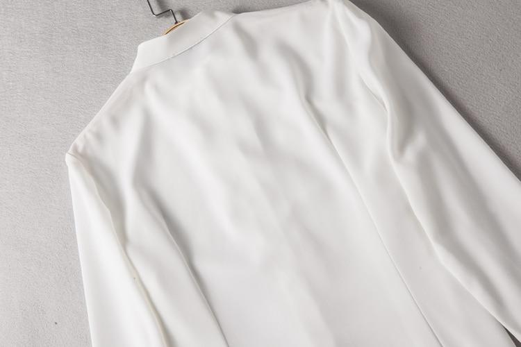 կանայք վերնաշապիկով 2019 երկար թև շիֆոն - Կանացի հագուստ - Լուսանկար 4