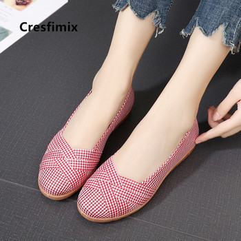 Zapatos De Mujer bonitos suaves y cómodos con rayas negras Zapatos planos para dama Retro zapatillas De ballet Cool Street Flats Zapatos E66