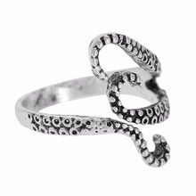 1PC Octopus Feeler Adjustable Rings for Womens Mens Personality Ring Squid Punk Kraken Vintage Rock Fingers Party Jewelry(China)