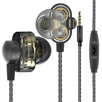YTOM T9 Professional HIFI Deep Bass Earphone With Mic Dual Driver Noise Isolating Headphones Headset Earbuds