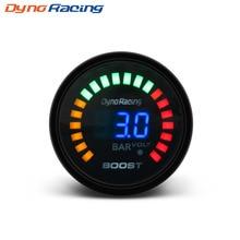 """Dynoracing """" 52 мм 20 светодиодный синий цифровой 1-3 бар 12 В 20 светодиодный турбо Boost Gauge автомобильный измеритель с датчиком YC101338"""