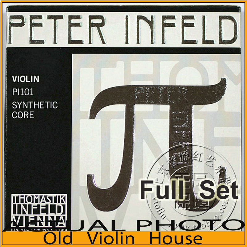 Original Thomastik Peter Infeld (PI101) Violin Strings , Tin plated  E--Silver D, Full set,made in Austria ,Free shipping free shipping evah pirazzi violin strings full set ball end made in germany for 4 4