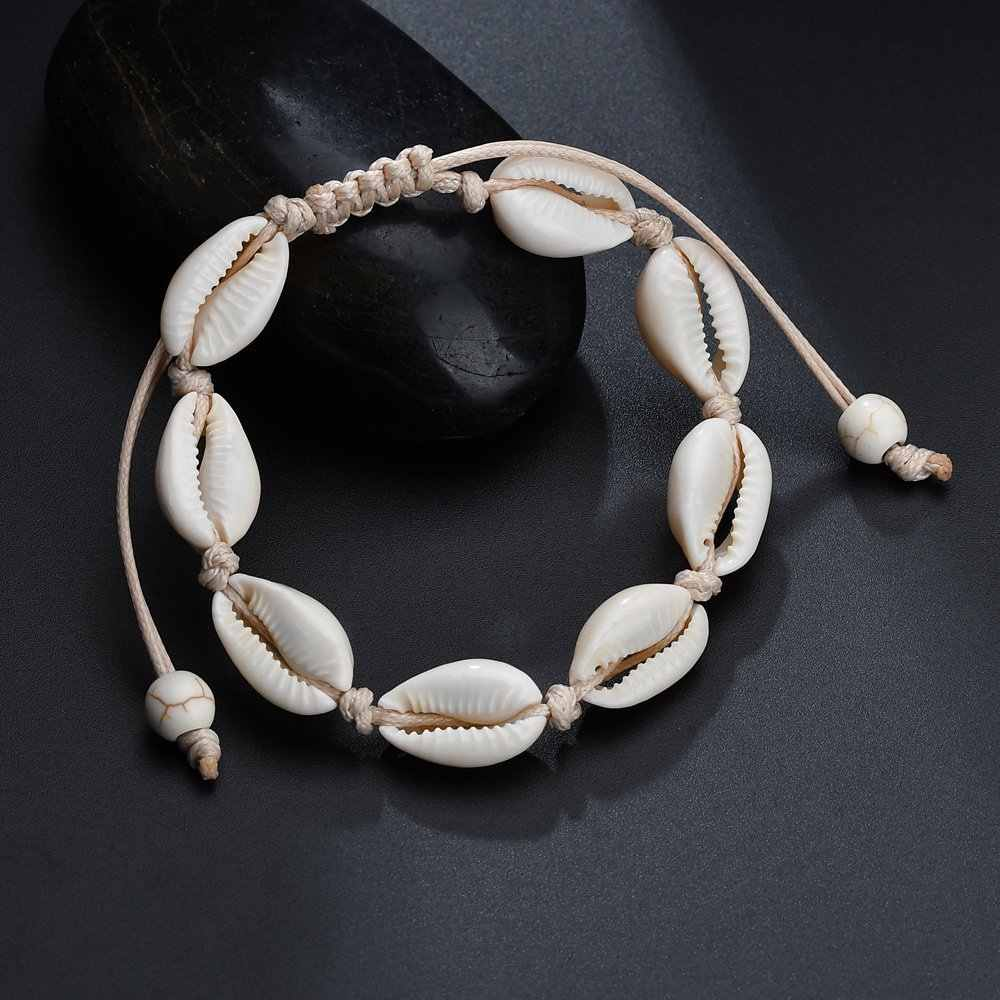 S162 Bohemian Anklets for Women shell Foot Jewelry Summer Beach Barefoot Bracelet Ankle on Leg Chian Ankle Strap Accessories